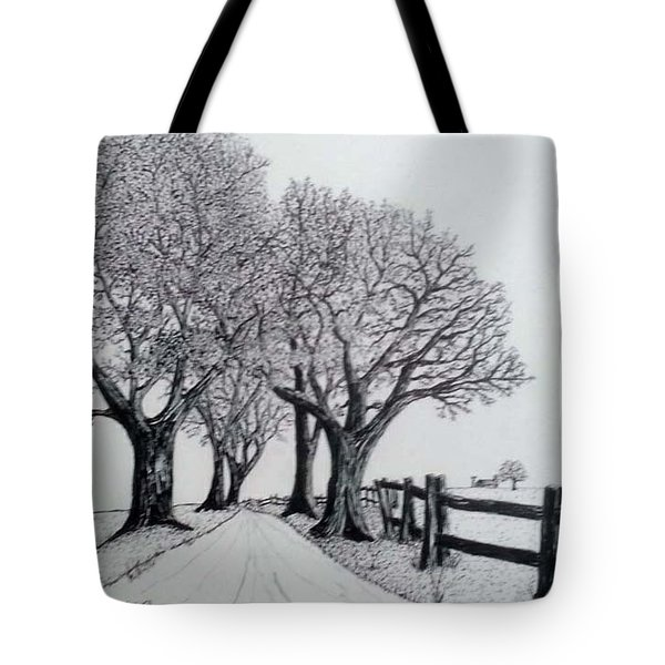 Country Lane Tote Bag by Jack G  Brauer