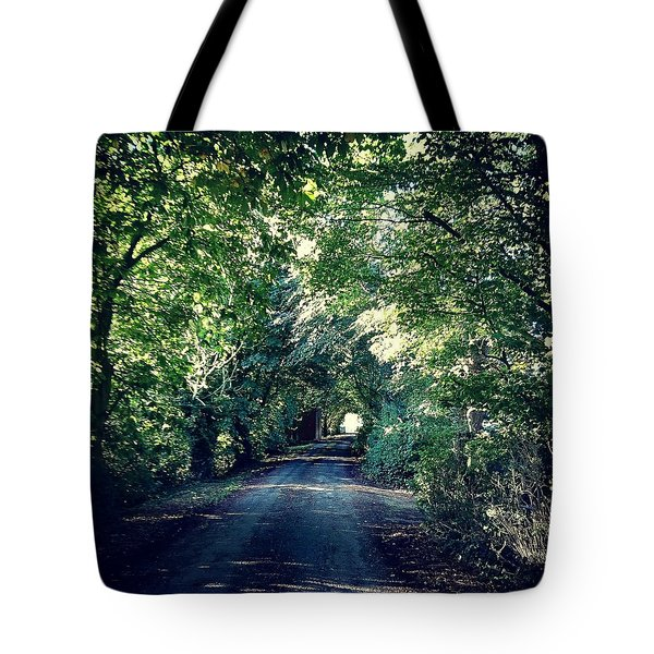 Country Lane, Tree Tunnel Tote Bag