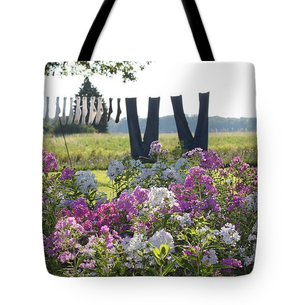 Country Laundry Tote Bag by Lauri Novak