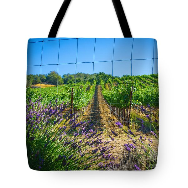 Country Lavender V Tote Bag