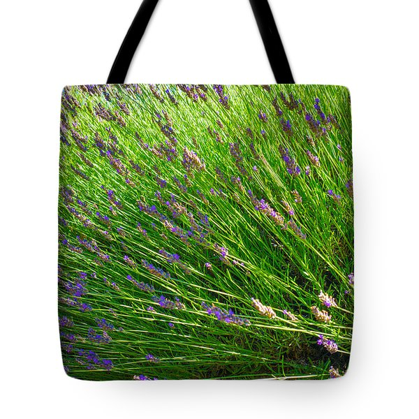 Country Lavender Vi Tote Bag