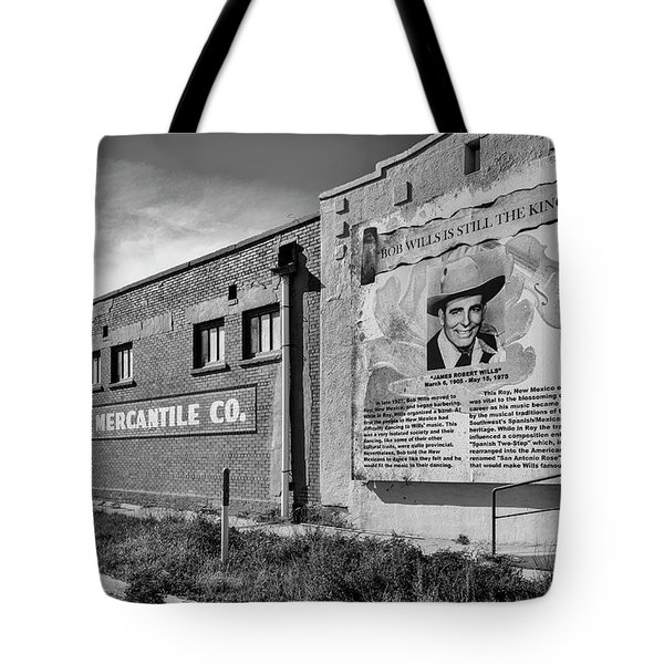 Country Legend Bob Wills In Roy New Mexico Tote Bag
