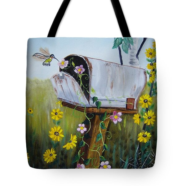 Country Mailbox Tote Bag