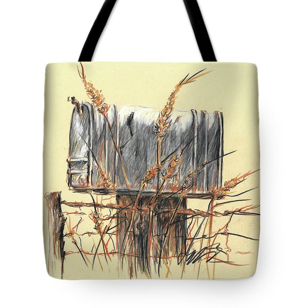 Country Mailbox In Colored Pencil Tote Bag