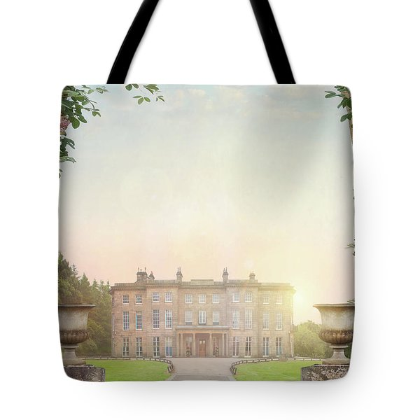 Country Mansion At Sunset Tote Bag by Lee Avison