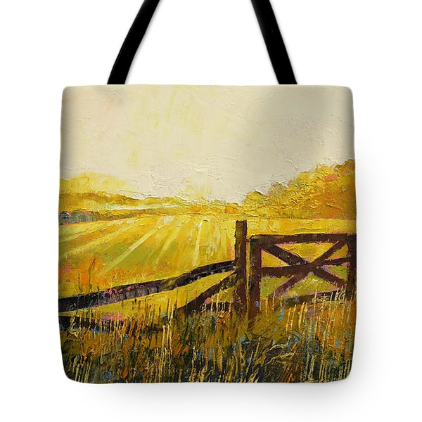 Country Meadow Tote Bag by Michael Creese