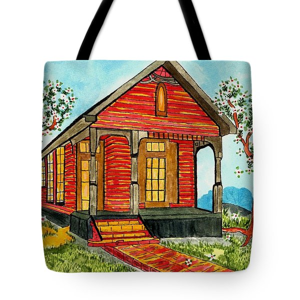 Country New Orleans Shot Gun House Tote Bag
