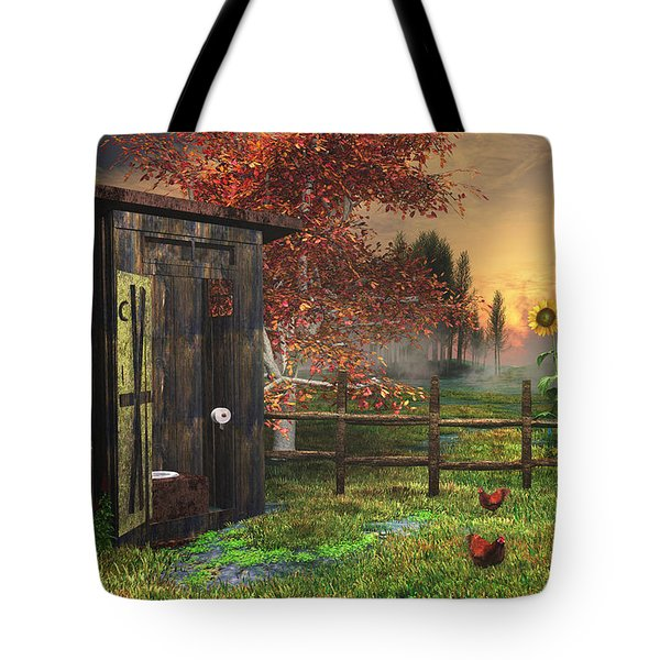 Country Outhouse Tote Bag