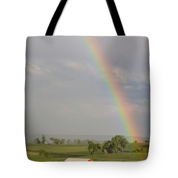 Country Rainbow Tote Bag by James BO  Insogna