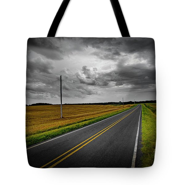 Tote Bag featuring the photograph Country Road by Brian Jones