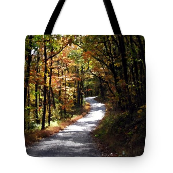 Country Road Tote Bag by David Dehner