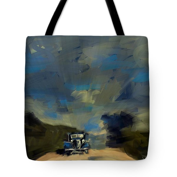 Tote Bag featuring the digital art Country Road II by Jim Vance