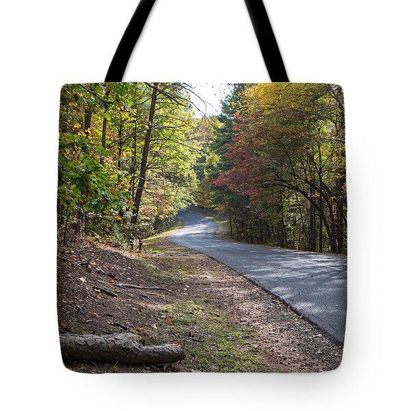 Country Road In Autumn Tote Bag by Kevin McCarthy
