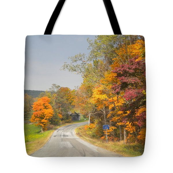 Tote Bag featuring the photograph Country Road In The Fall by Diannah Lynch