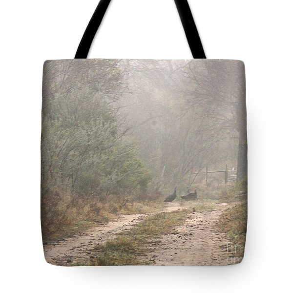 Country Road In The Morning Tote Bag