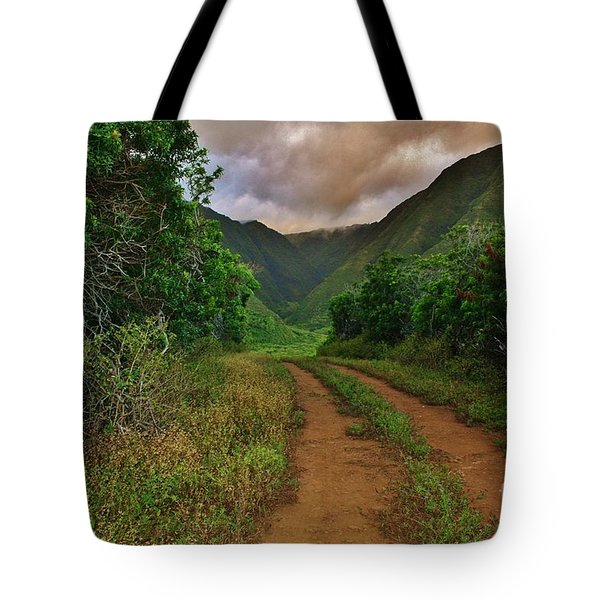 Country Road Kalaupapa, Molokai Tote Bag