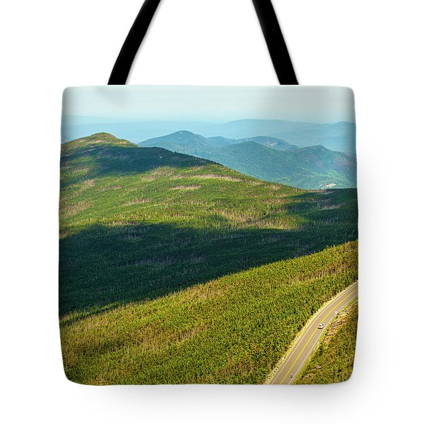 Tote Bag featuring the photograph Country Road To My Home Whiteface Mountain New York by Paul Ge