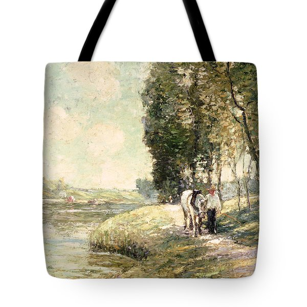 Country Road To Spuyten Tote Bag by Ernest Lawson