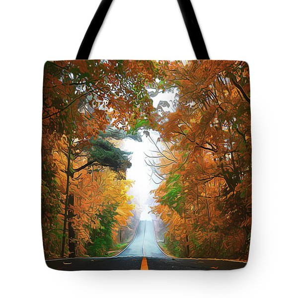 Tote Bag featuring the painting Country Roads by Harry Warrick