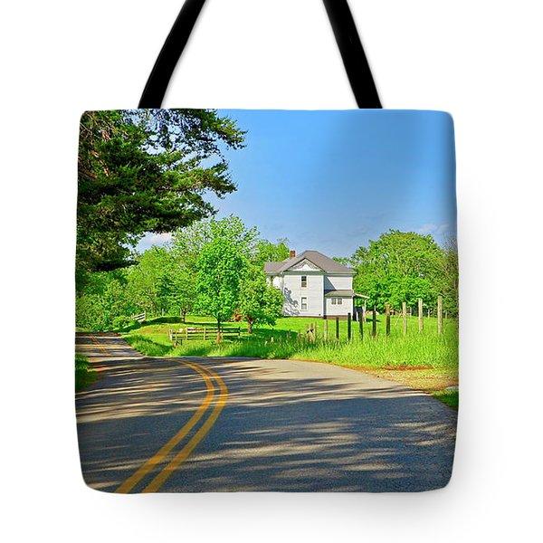 Country Roads Of America, Smith Mountain Lake, Va. Tote Bag