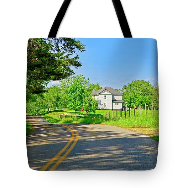 Country Roads Of America, Smith Mountain Lake, Va. Tote Bag