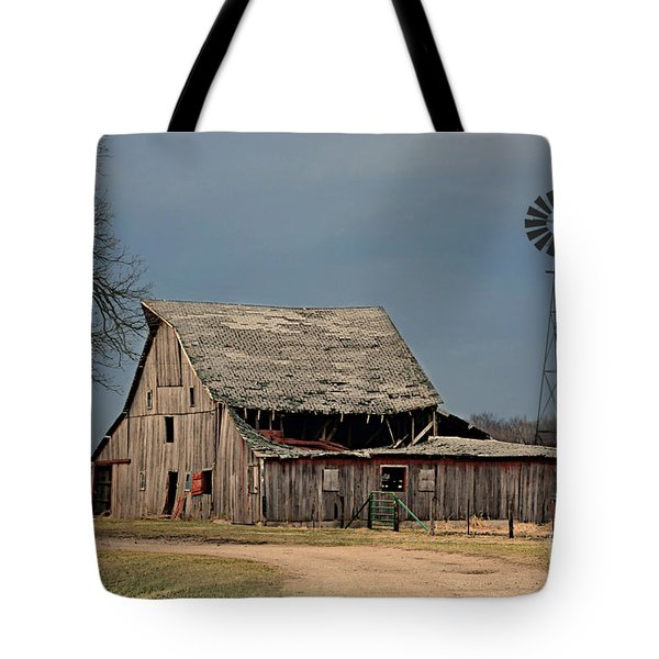 Country Roof Collapse Tote Bag by Kathy M Krause