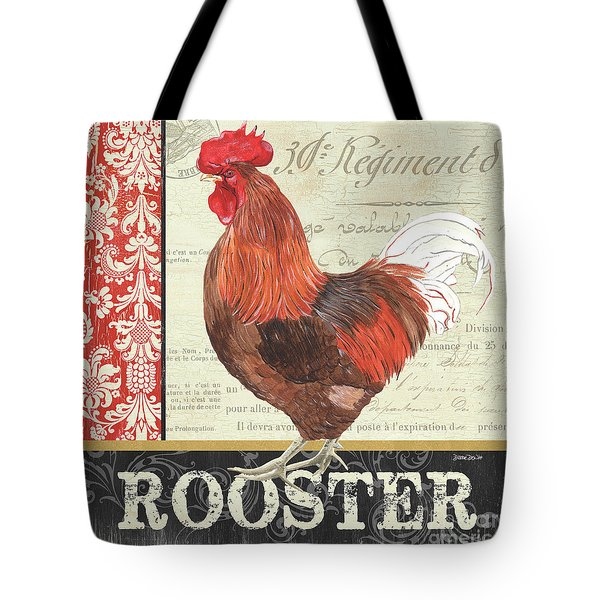 Country Rooster 2 Tote Bag