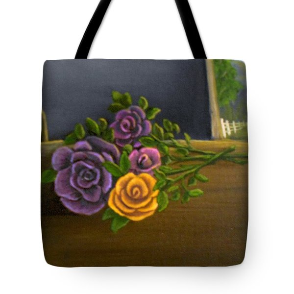 Country Roses Tote Bag by Sheri Keith