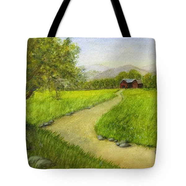 Country Scene - Barn In The Distance Tote Bag