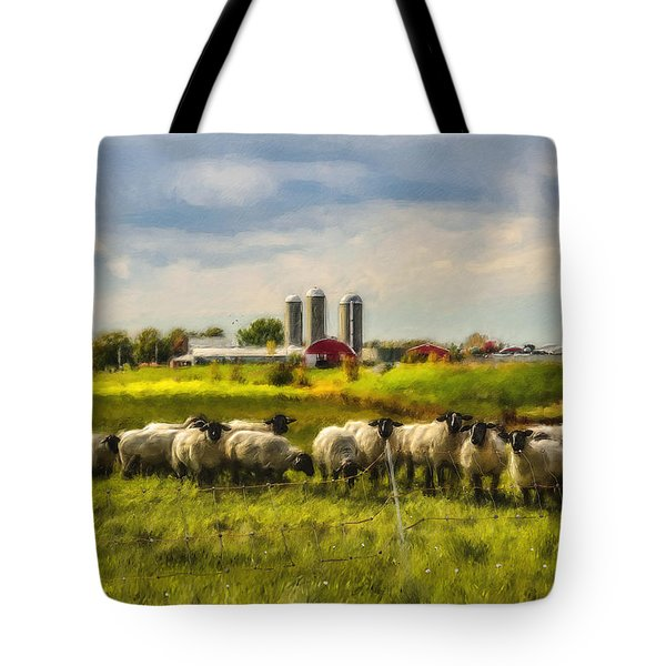 Country Sheep Tote Bag