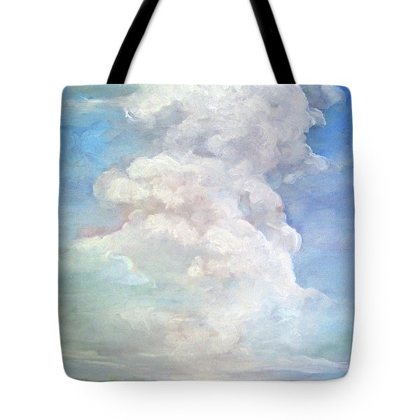 Tote Bag featuring the painting Country Sky - Painting by Linda Apple