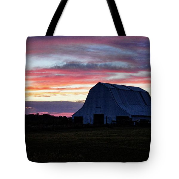 Tote Bag featuring the photograph Country Sunset by Cricket Hackmann