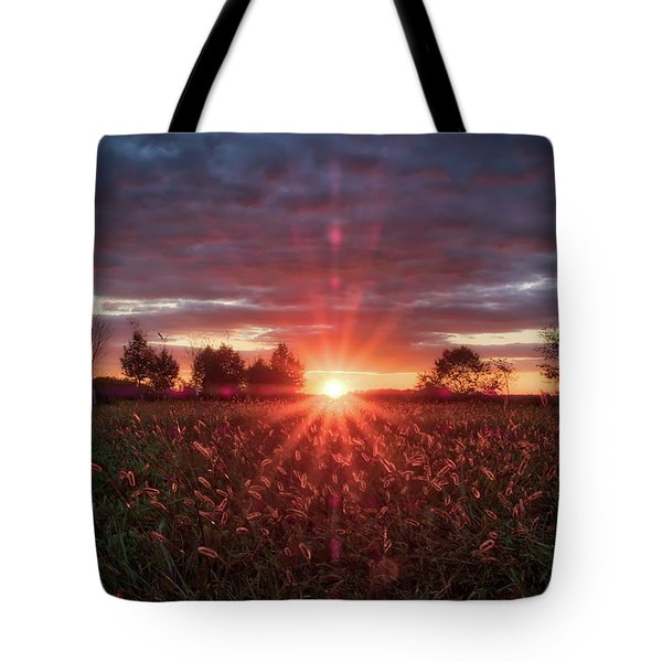 Tote Bag featuring the photograph Country Sunset by Mark Dodd