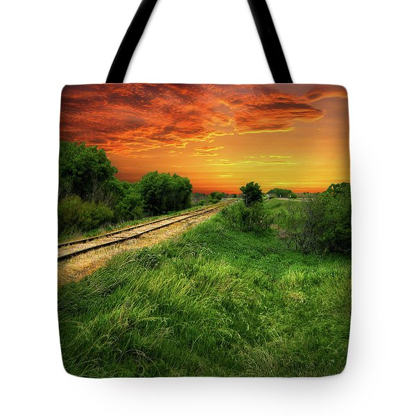 Country Tracks 2 Tote Bag