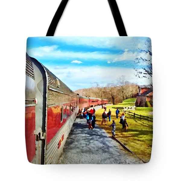 Country Train Depot Tote Bag