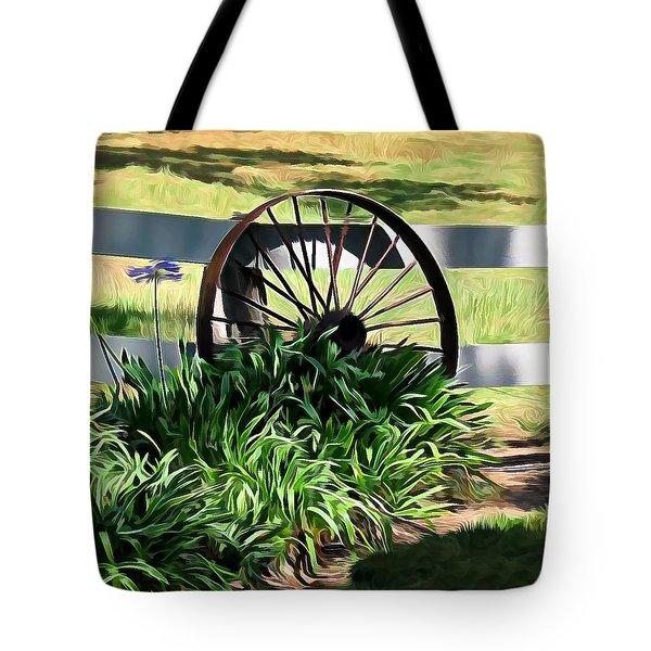 Country Wagon Wheel Tote Bag