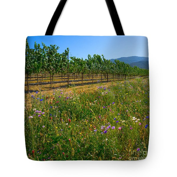 Country Wildflowers V Tote Bag