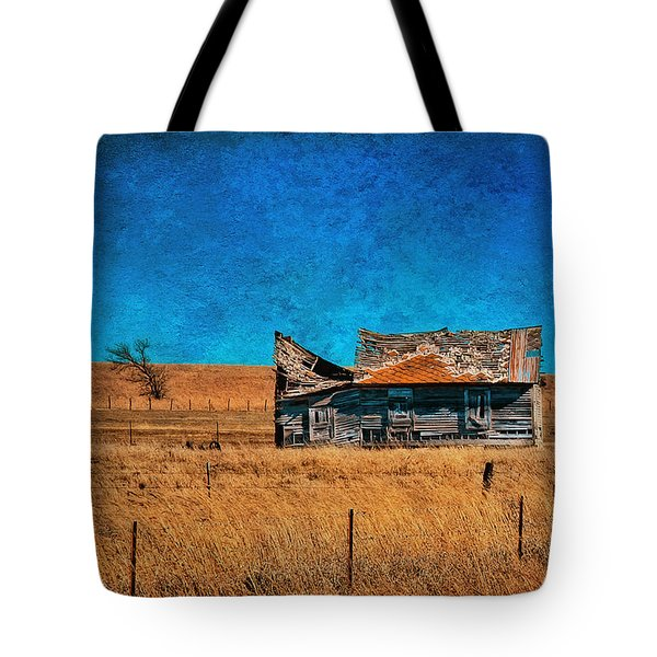 Countryside Abandoned House Tote Bag