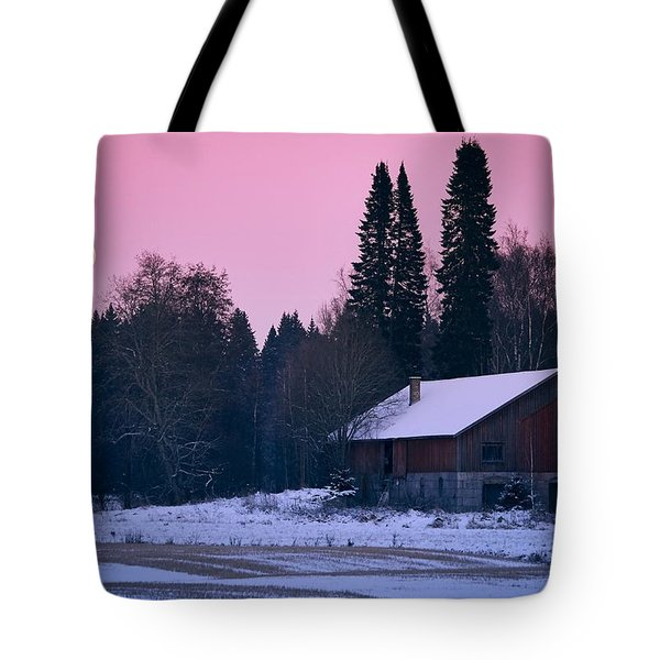 Countryside Full Moon Scenery Tote Bag by Teemu Tretjakov