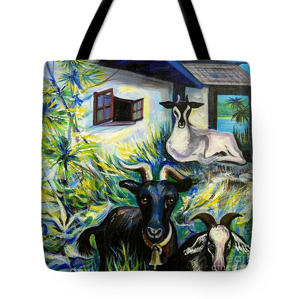 Countryside Of Jamaica Tote Bag by Anna  Duyunova