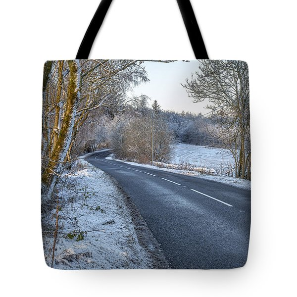 Countryside Road In Central Scotland Tote Bag