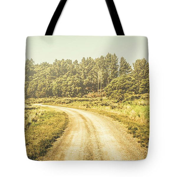 Countryside Road In Outback Australia Tote Bag