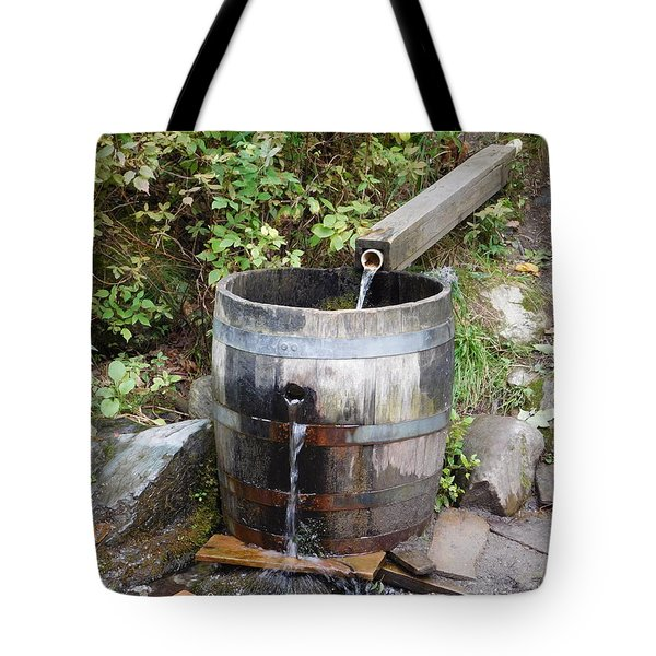 Countryside Water Feature Tote Bag