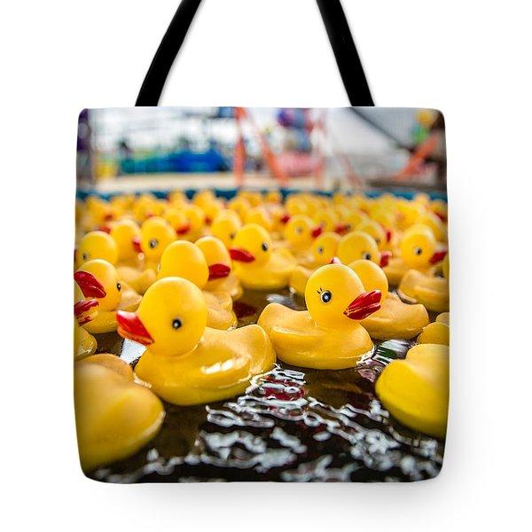 County Fair Rubber Duckies Tote Bag