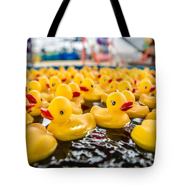 County Fair Rubber Duckies Tote Bag by Todd Klassy