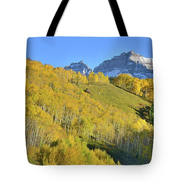 Tote Bag featuring the photograph County Road 7 Fall Colors by Ray Mathis