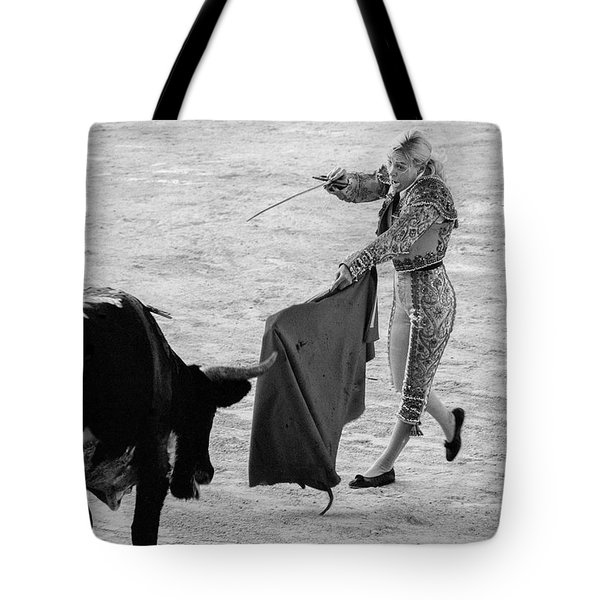 Tote Bag featuring the photograph  Coup De Grace In Pink by Jennifer Wright