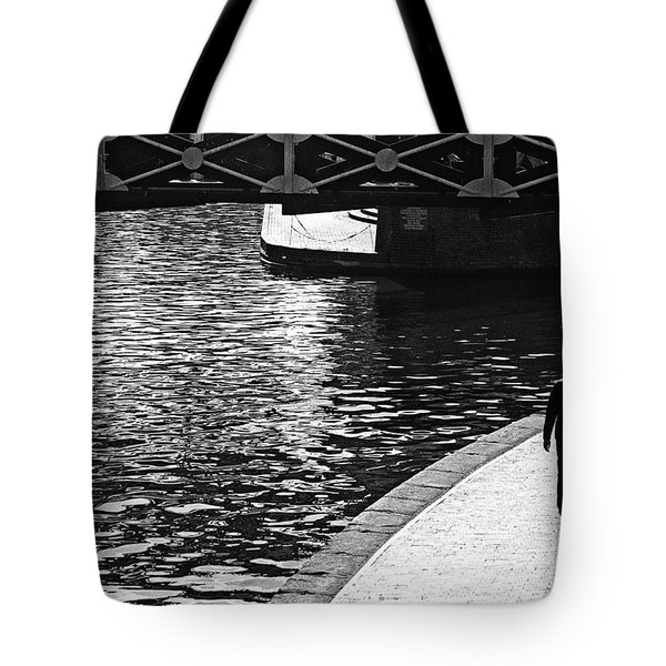 Tote Bag featuring the photograph Couple And Canal by Adrian Pym