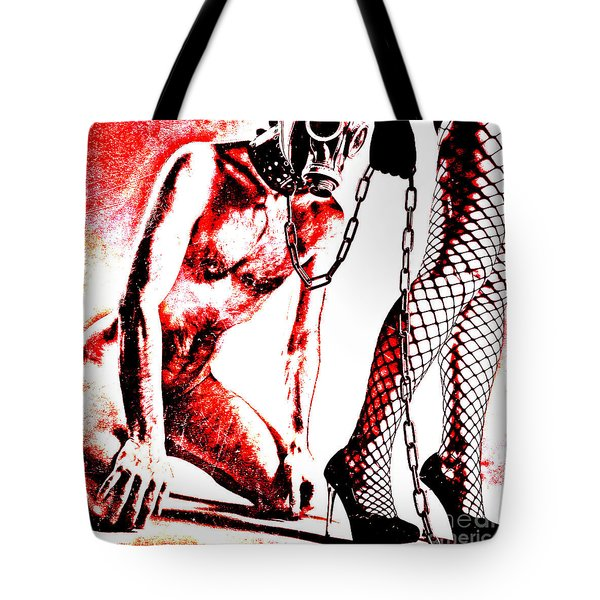 Couple Nude In Bdsm Play And Image Finished In Digital Dots Art  Tote Bag
