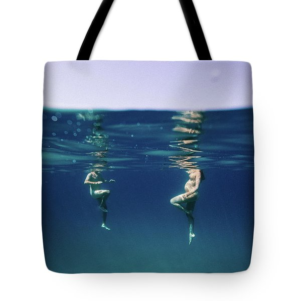 Couple Of Three Tote Bag